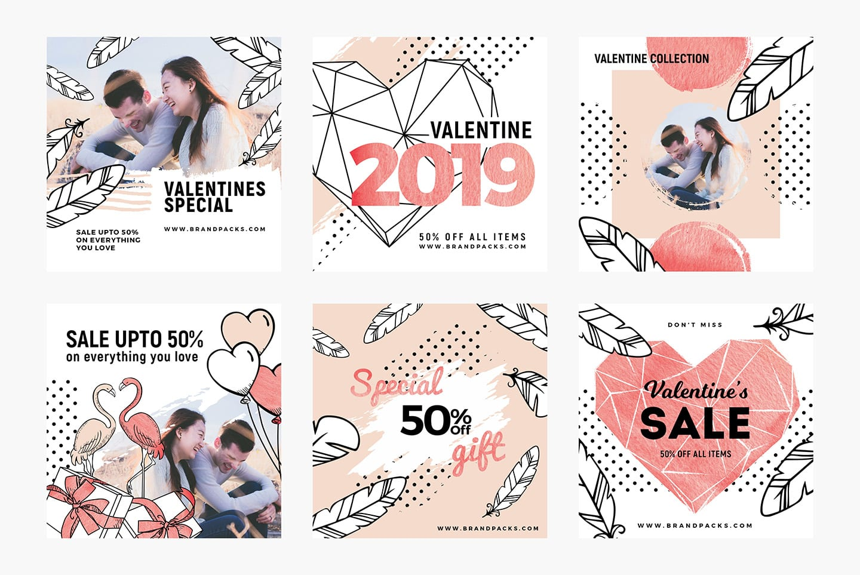 Valentines Social Media Templates