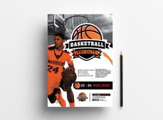 A4 Basketball Advertisement Template