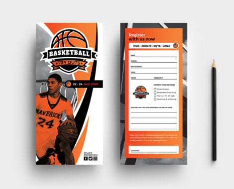 Basketball Rack Card Template