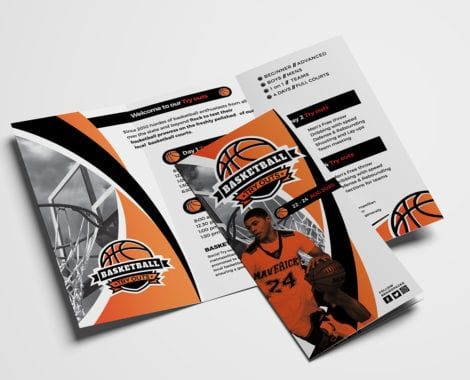 Basketball Tri-Fold Brochure Template