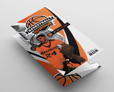 Basketball Tri-Fold Brochure Template
