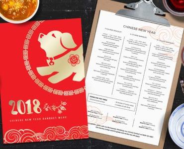 Chinese New Year Menu Template