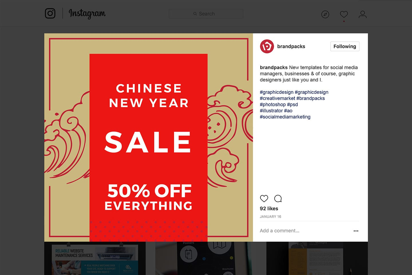 Chinese New Year Social Media Templates