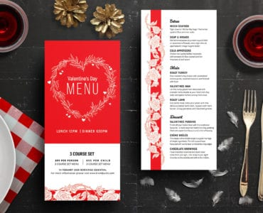 DL VDAY Menu Template