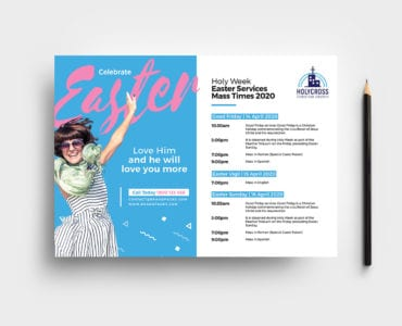 Easter Service Flyer Template