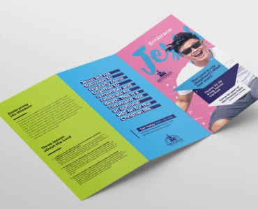 Easter Service Tri-Fold Brochure Template