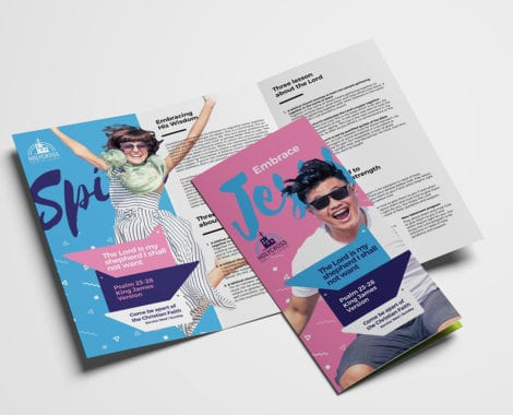 Easter Service Tri-Fold Brochure Template
