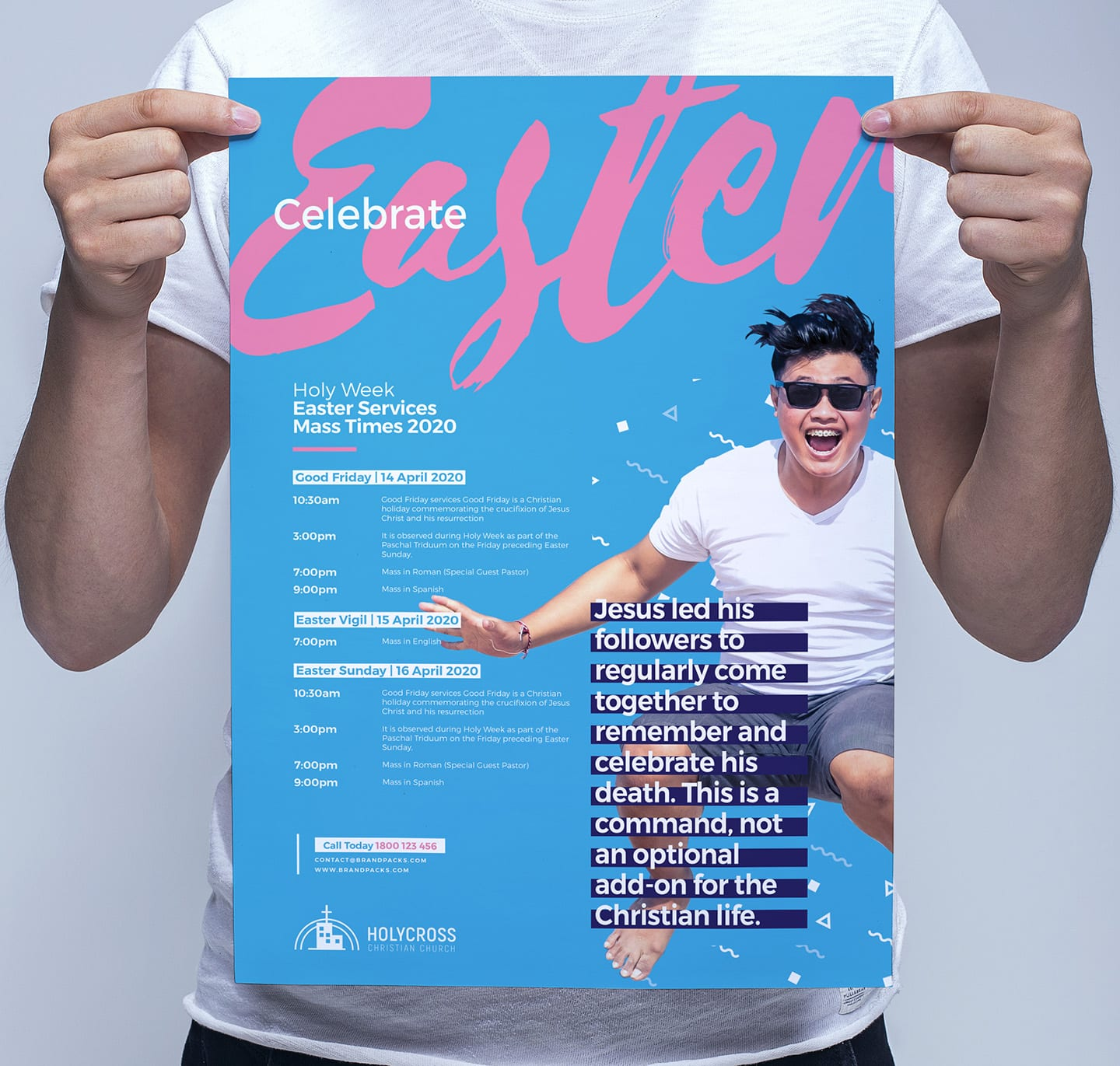Easter Service Poster Template