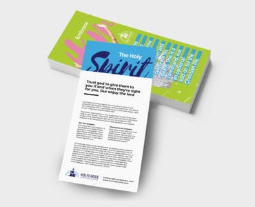 Easter Service Rack Card Template