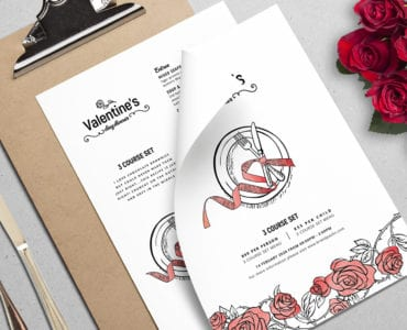 Valentines Menu Templates