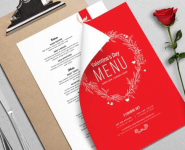 Valentines Menu Layout