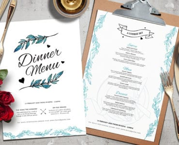 Valentine's Menu Template Vol.3