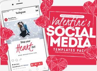 Valentine's Day Social Media Templates Vol. 4
