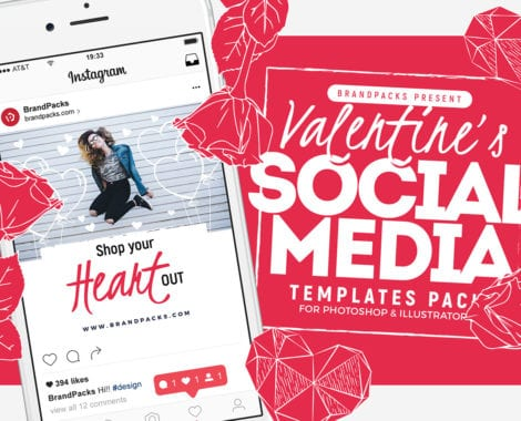Valentine's Day Social Media Templates Vol. 4
