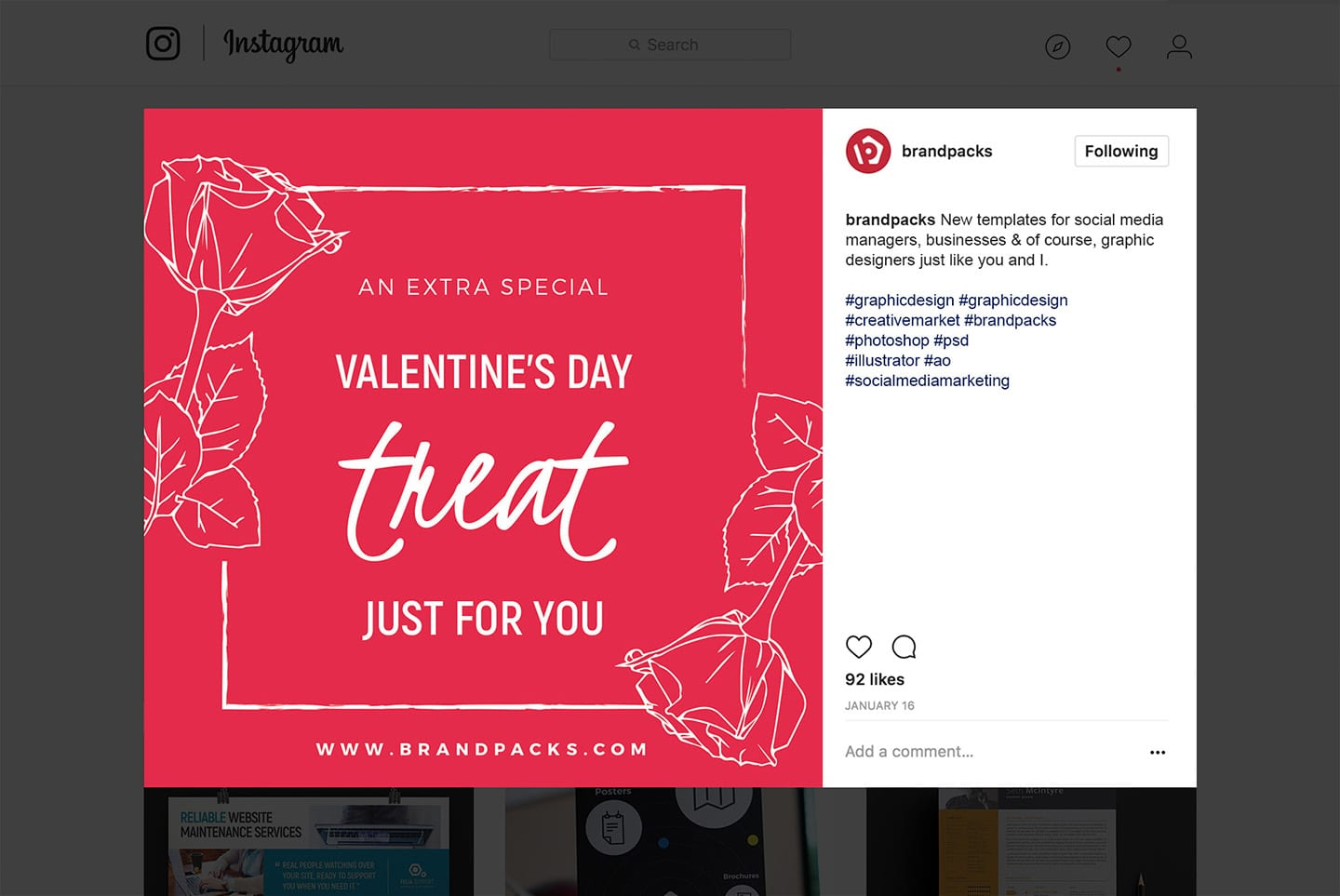 Valentine's Day Template for Instagram