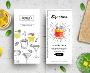 DL Cocktail Menu Template