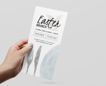 DL Easter Menu Layout