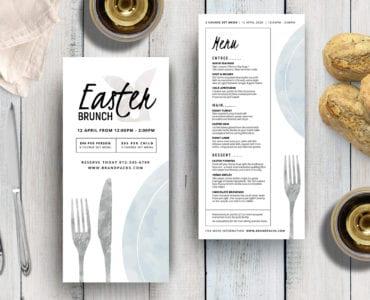 DL Easter Menu Layout
