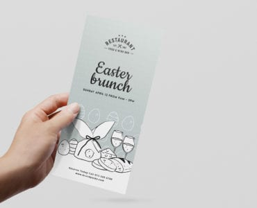 DL Easter Menu Template