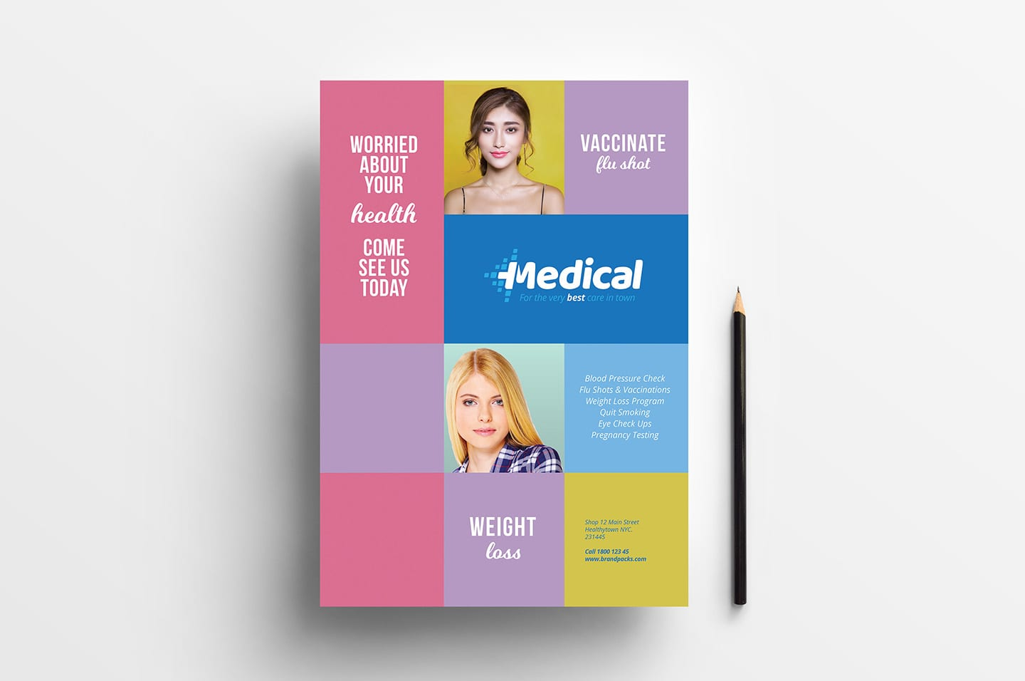 A4 Medical Advertisement Template