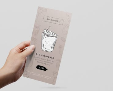 Cocktail Menu DL Card Template