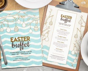 Easter Lunch Menu Template