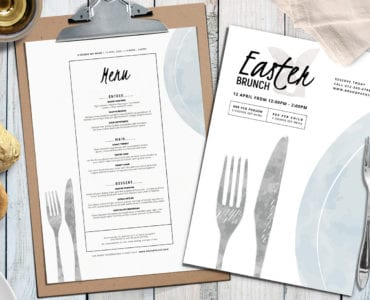 A4 Easter Menu Layout