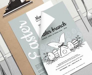 Easter Menu Template