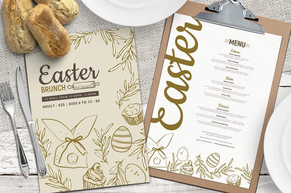 Easter Menu Template in PSD, Vector & Ai