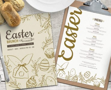 Easter Menu Template in PSD, Vector & Ai