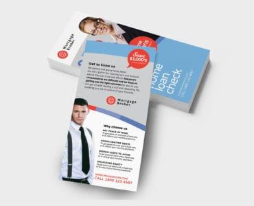 Modern Corporate DL Rack Card Template
