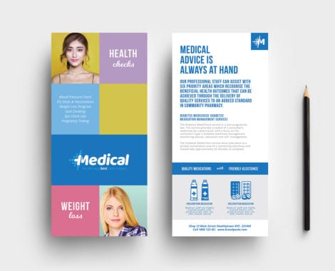 Modern Medical DL Card Template