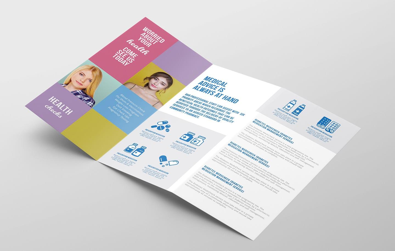 Tri-fold Medical Brochure Design Template in PSD, Word ... |Medical Tri Fold Brochure Template
