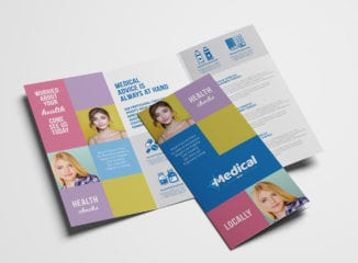 Modern Medical Tri-Fold Brochure Template