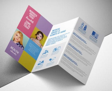 Modern Medical Tri-Fold Brochure Template