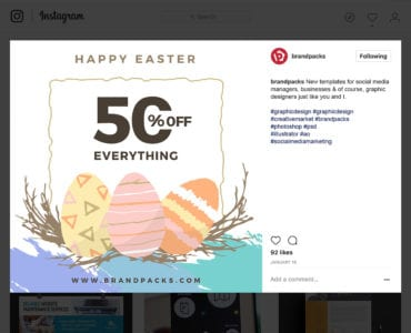 Easter Instagram / Social Media Templates