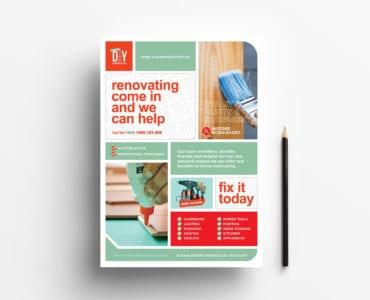 A4 DIY Tool Poster Template