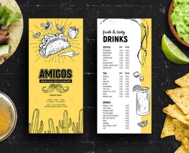 DL Mexican Menu Template