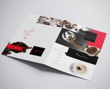 Folding A3 Cafe Menu Template