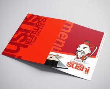 A3 Sushi Menu Template