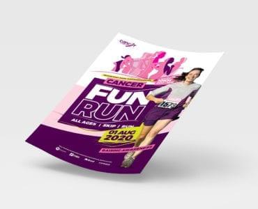 A4 Cancer Fun Run Advertisement Template