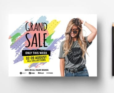 A4 Grand Sale Advertisement Template - Landscape