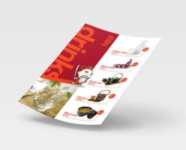 A4 Sushi Menu Template