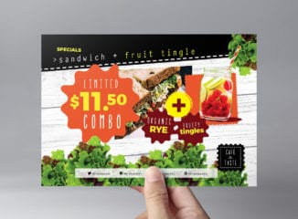 A5 Salad Menu Flyer Template