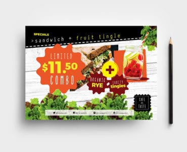 A5 Salad Menu Flyer Template