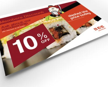 A5 Sushi Restaurant Flyer Template