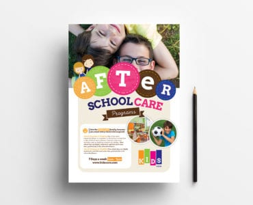 A4 After School Care Poster Template