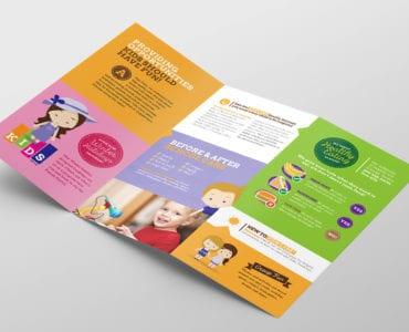 After School Care Tri-Fold Brochure Template