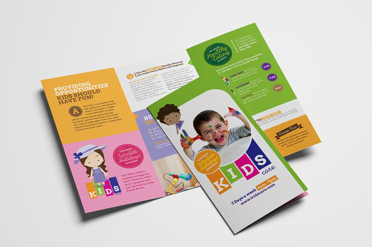 After School Care Tri-Fold Brochure Template
