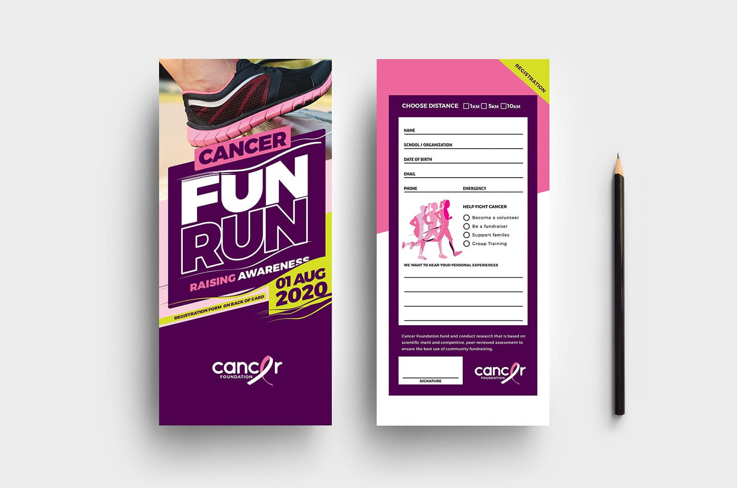 Cancer Charity DL Rack Card Template